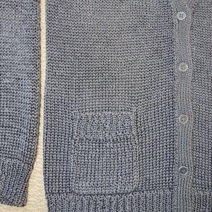 J CREW Oralie Long Knit Metallic Gray Cardigan